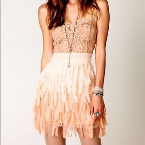 Free People feathers and lace sequin party dress